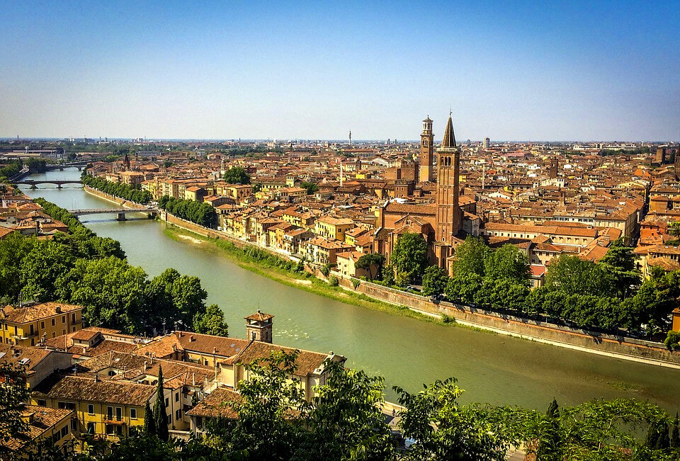 Verona - from EAST coast
